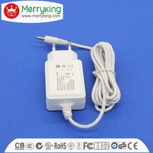 Straight case European power adapter 12v1000ma EU plug adaptor ac dc logo print with CE/GS/CB