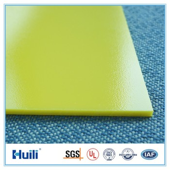 Huili Yellow Color Polycarbonate Sheets Solid Flat Pc