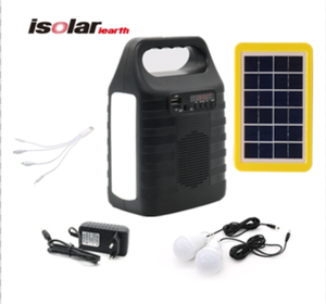 solar panel energy system solar power bank cell panel battery with lights for our door and home solar kit GD 8017 lite plus FM