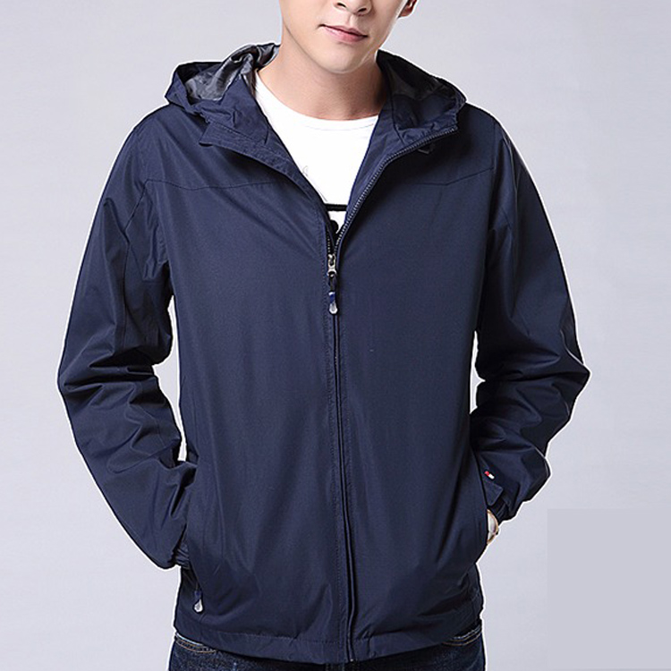 Hot sale spring light jacket 100% polyester custom blank wind proof windbreaker jacket waterproof mens top windbreaker coat