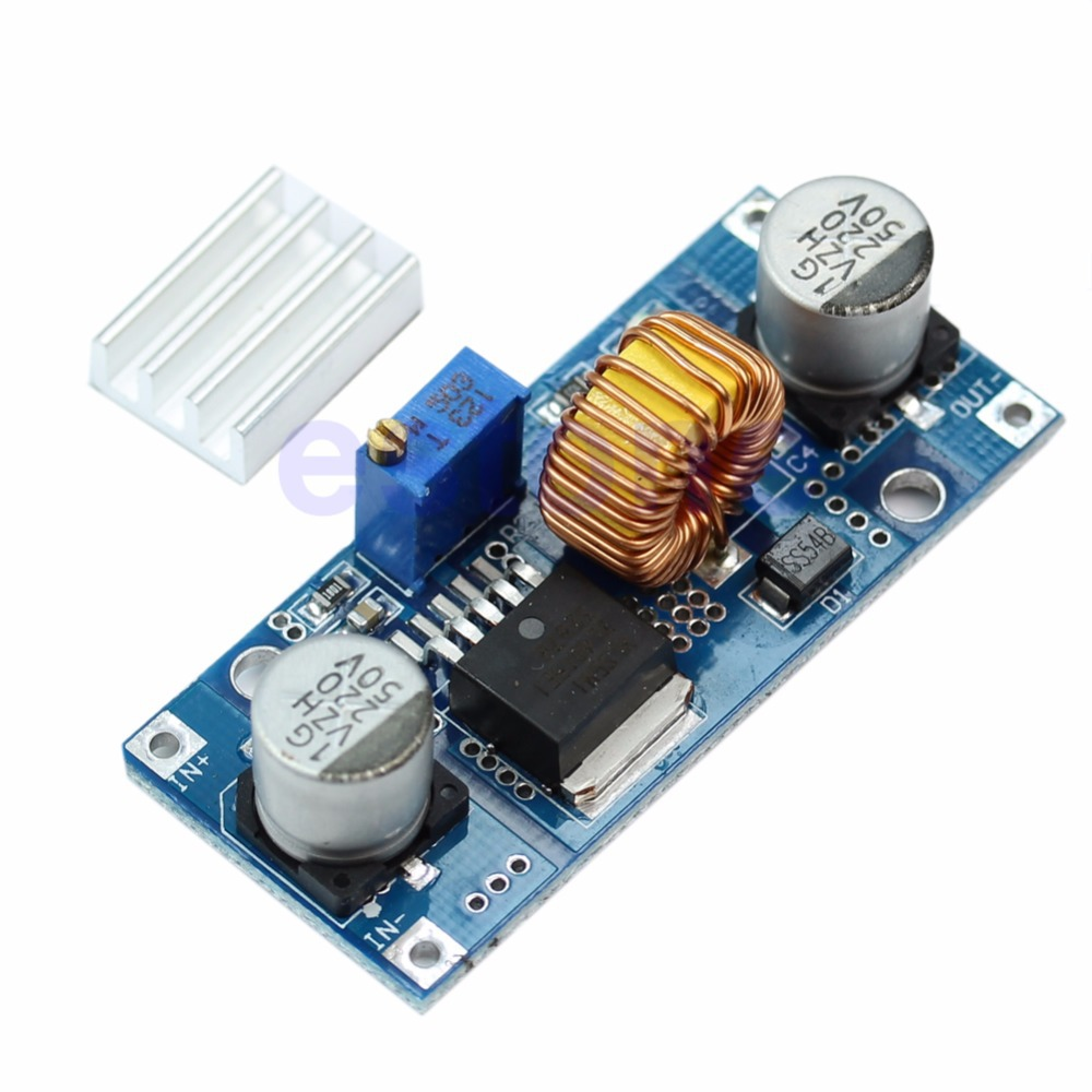 DC 4V-38V To 1.25V-36V 5A Step Down Power Supply Buck Module 24V 12V 9V 5V
