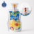 Manual filling juice plastic bag with straw fruit juice plastic pouch clear juice drink bag