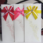 2014 Luxury English Wedding Cards with Butterfly Ribbon