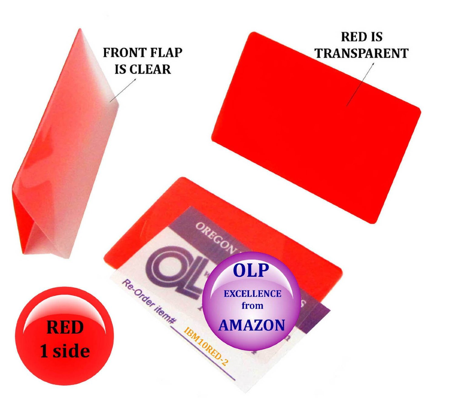 Qty 200 Red/Clear IBM Card Laminating Pouches 2-5/16 x 3-1/4 by LAM-IT-ALL