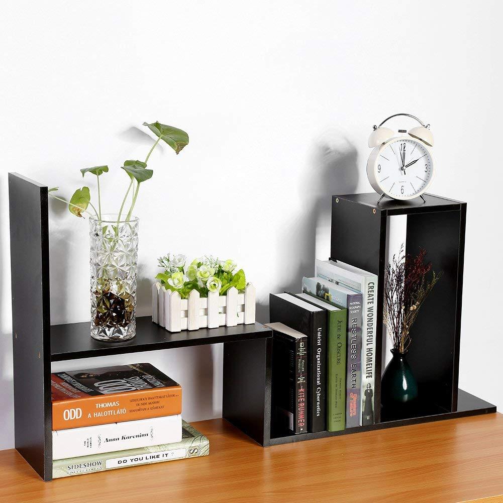 Amaze28 Sturdy Board Table Desktop Storage Rack Display Shelf Organizer Counter Bookcase