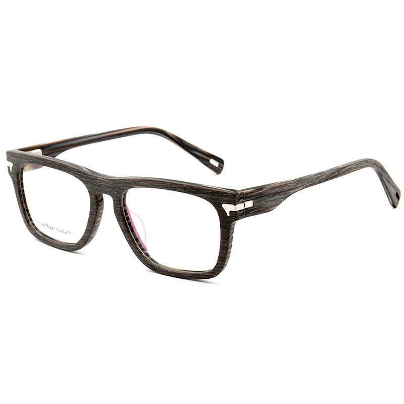 HJ BA-AC003 high quality retro acetate big frame optical eyeglasses with Circular frame for unisex handmade acetate eyeglasses