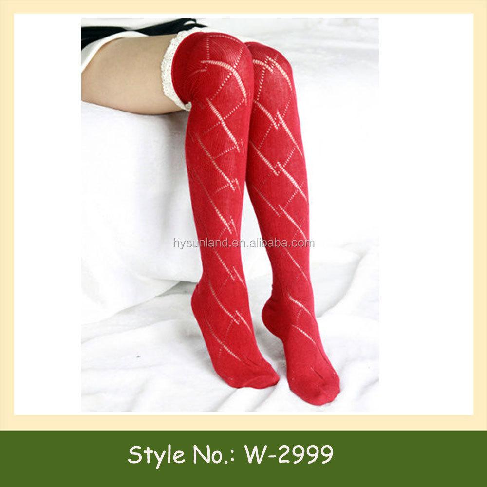 W-2999 Moda Crochet Diseño Trim Boot Calcetines Gracia Y Encaje ...
