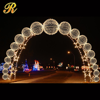 2015 hot new gold&silver led light crystal arch light party wedding decoration