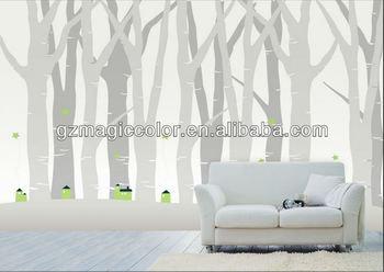 Ancient Color White And Black Tree Design Wallpaper Murals Part 85