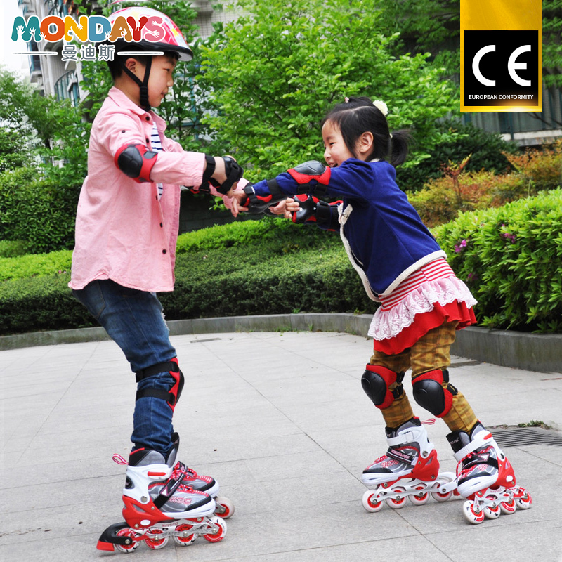 Five Years Old Child Inline Skate comfortable Professional Roller Skate With Light