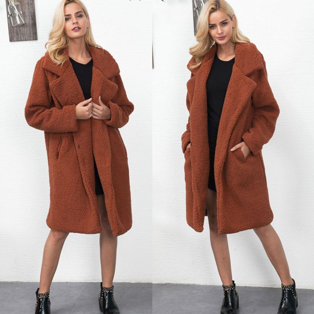 0334c48c31aeb Get Quotations · Sinwo Winter Warm Coat Women s Long Jacket Warm Parka  Outwear Ladies Overcoat Loose Coat