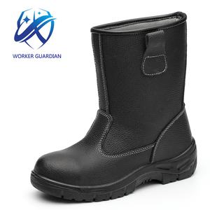 Wholesales PU Injection Work Mans Safety Boots With Steel Toe