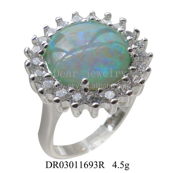 Latest Silver Ring Design Opal And Tanzanite Australian Opal ...