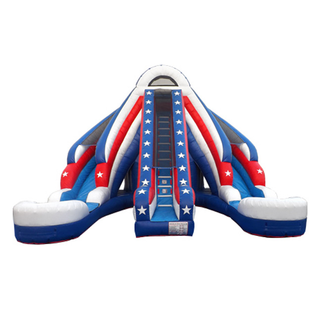 Fun park equipment outdoor used inflatable water <strong>slide</strong> for sale
