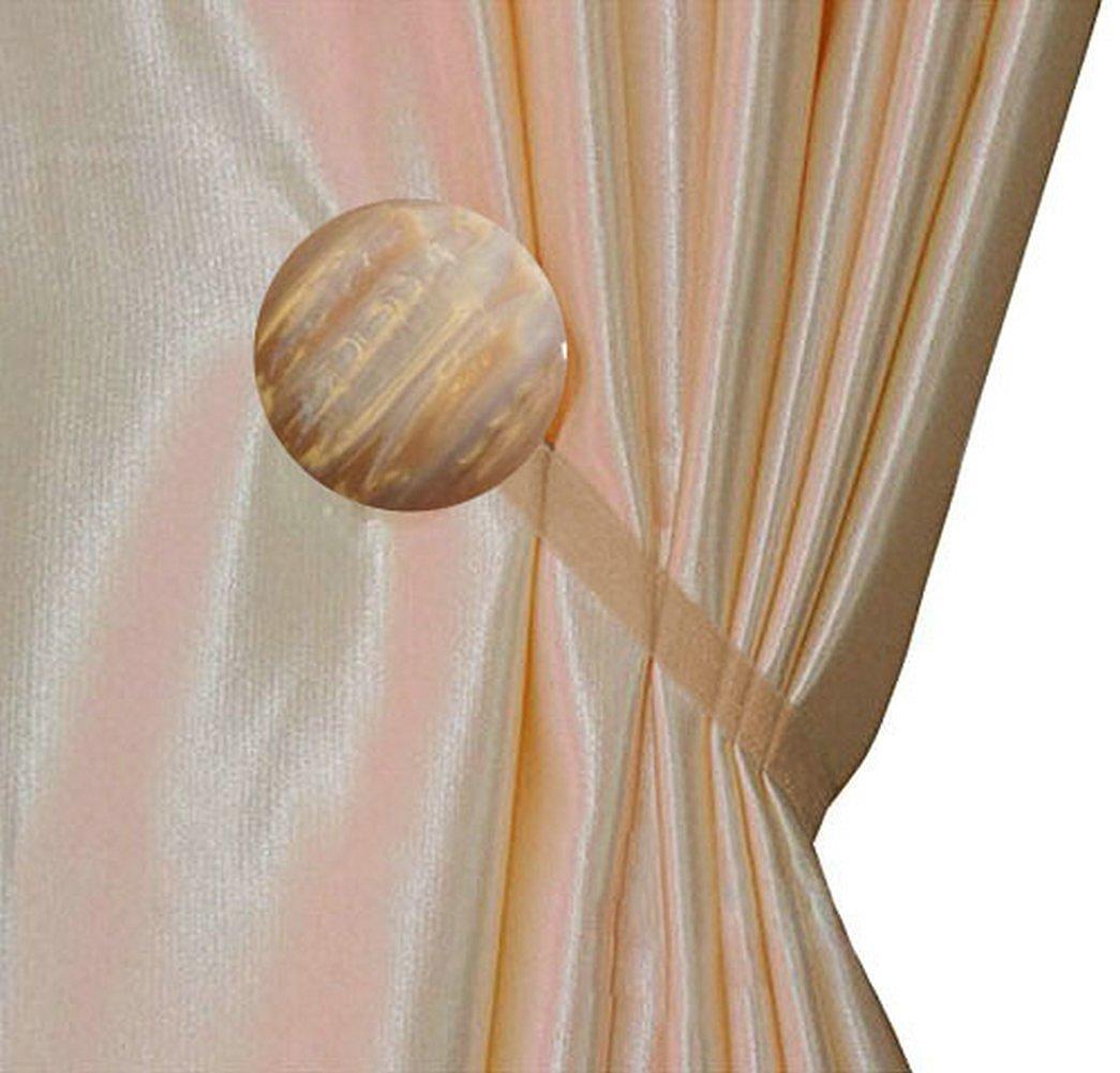 Ayygift 1 Pair New Design Gem Magnetic Tiebacks Curtain Buckle / Europe Creative Fashion Curtain Buckle (Opal B Light coffee)