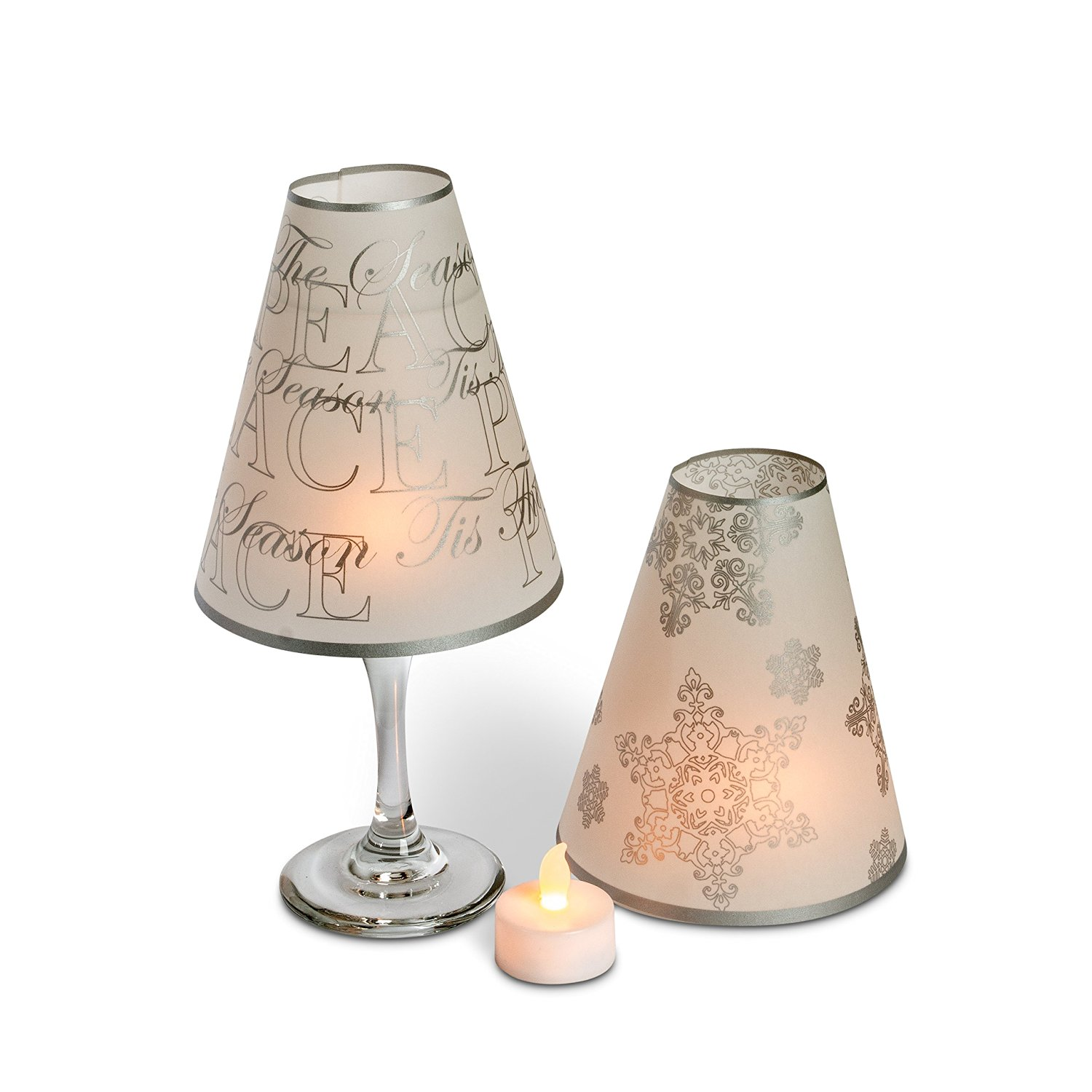 Cheap student lamp glass shades find student lamp glass shades get quotations 5 wine glass lamp shades tea lights home wedding decor centerpieces snowflake aloadofball Image collections