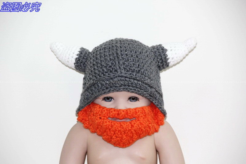 30e002c3355 Get Quotations · Crochet Viking Helmet Hat with Beard   Viking Helmet  Crochet