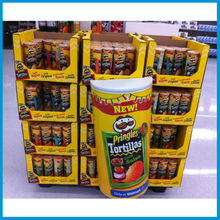 Competitive Price Supermarket Floor Cardboard Display Rack for Potato Chips Snacks