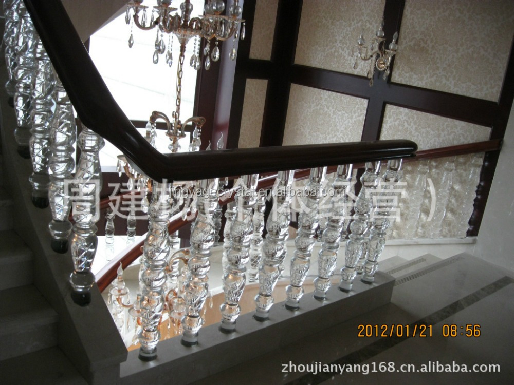 crystal staircase stainless steel staircase handle timber staircase