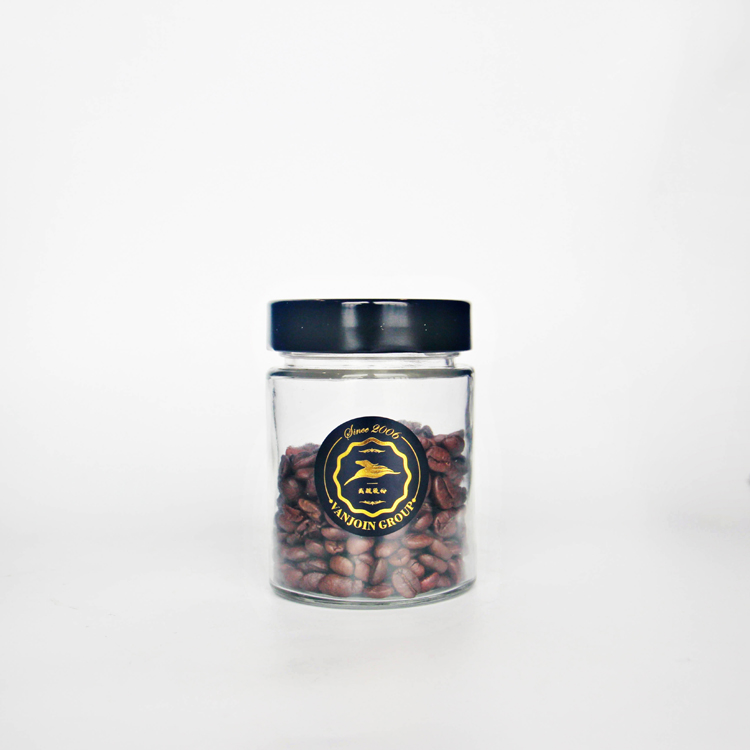 Empty 100ml 150ml 180ml 280ml 380ml 500ml Straigh Sided Smooth Ergo Glass Jar With Deep Metal Cap For Home Kitchen Storage