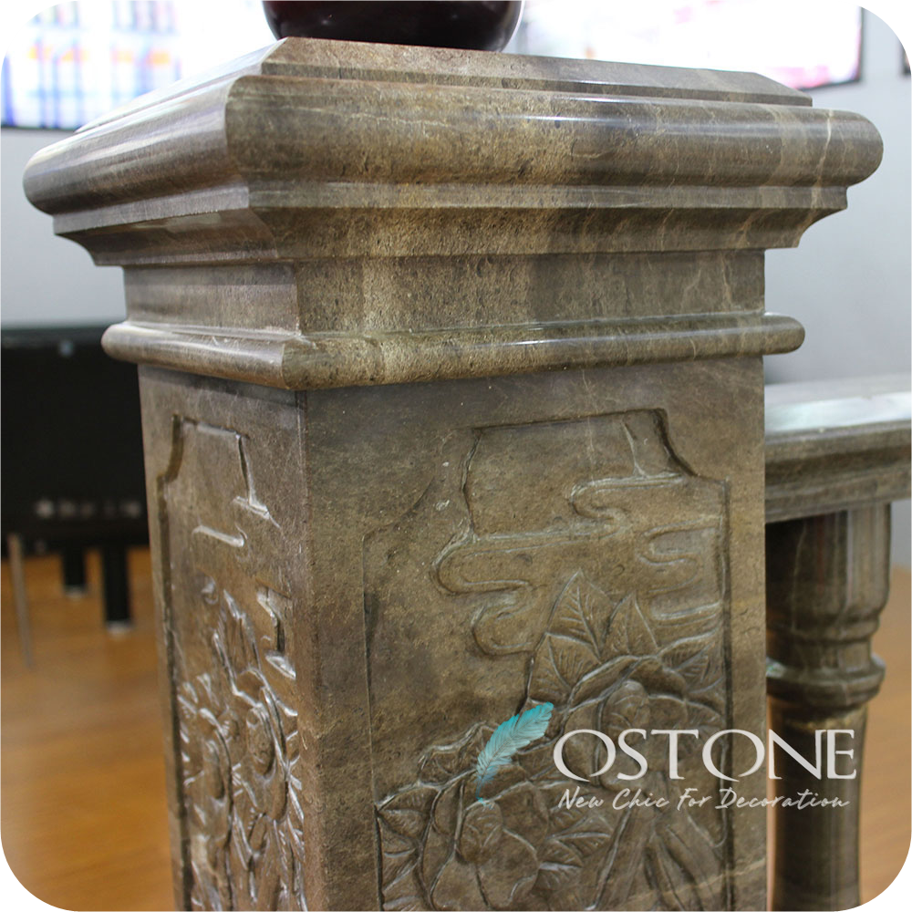 China Brown Granite And Marble Balcony Baluster, Stair Pillars Design
