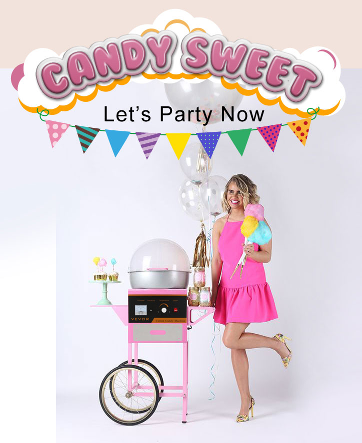 "VEVOR Candy Floss Machine Cover 20.5 ""Dome Opening Katoen Candy Clear Bubble"