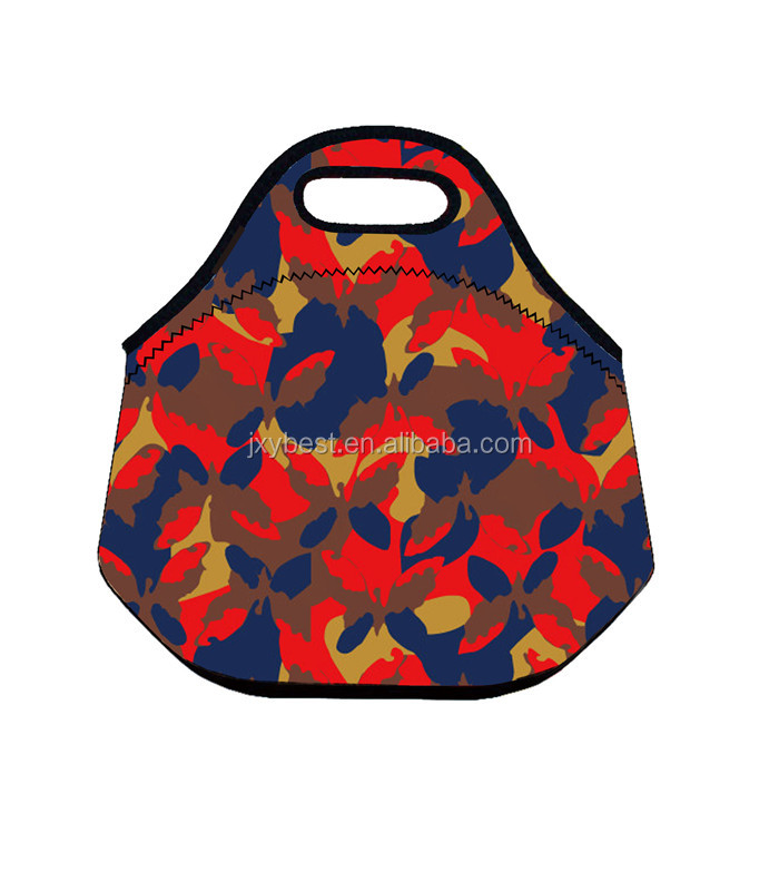 Factory custom neoprene Insulated Lunch Bag Folding Grocery Bags For Hiking Camping