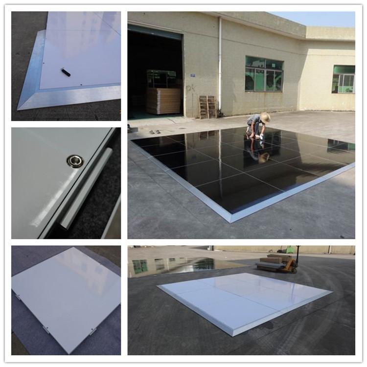 Tendone pavimenti in sistemi di Cerimonia Nuziale event pista da ballo in bianco e nero