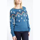 WOMEN'S 4% cashmere/4% angora / 18% cotton/18% lambswool/33% viscose/23% nylon JACQUARD SWEATER