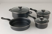 7pcs carbon steel non-stick cookware sets| kitchen set |frying pan|sauce pot