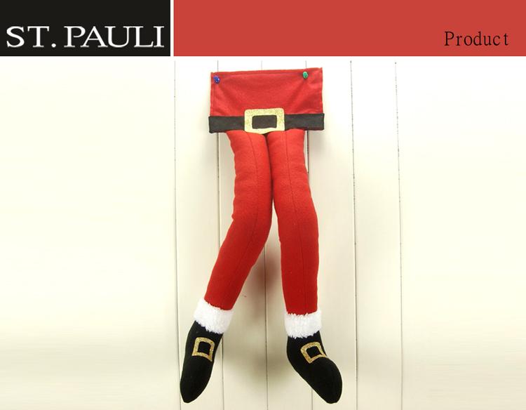 아이 귀여운 매달려 산타 클로스 다리가 저렴한 대량 크리스마스 선물 홈 장식