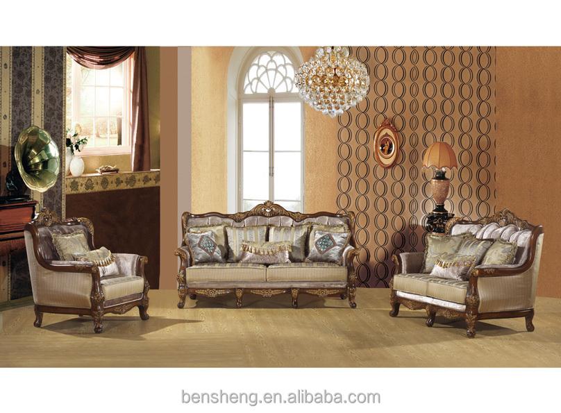 FoShan furniture living room furniture sofa set handmade wood furniture  S1217