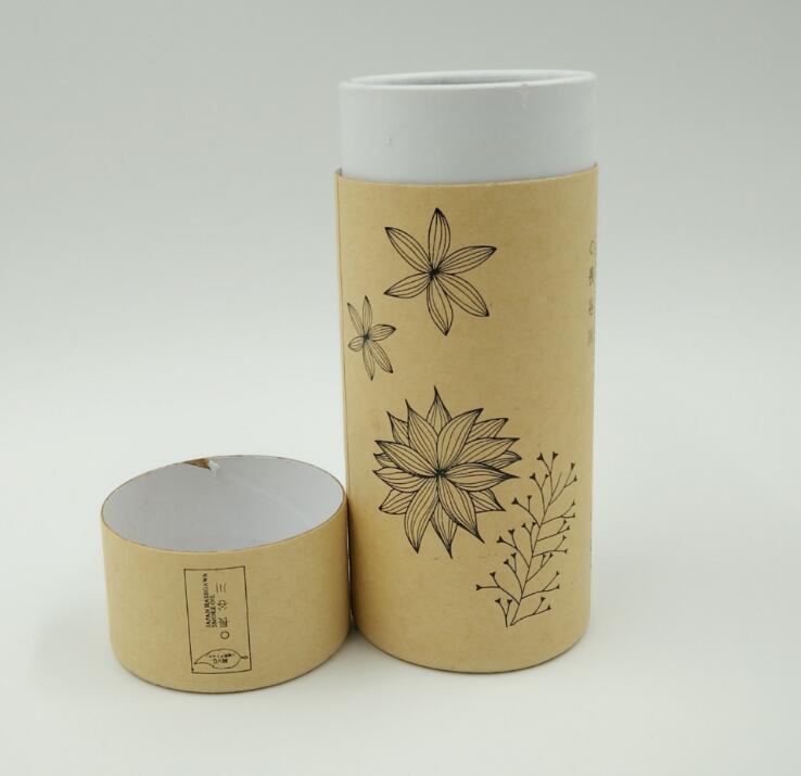 hot-selling brown kraft round paper packaging box custom cylinder gift tube coffee tea box