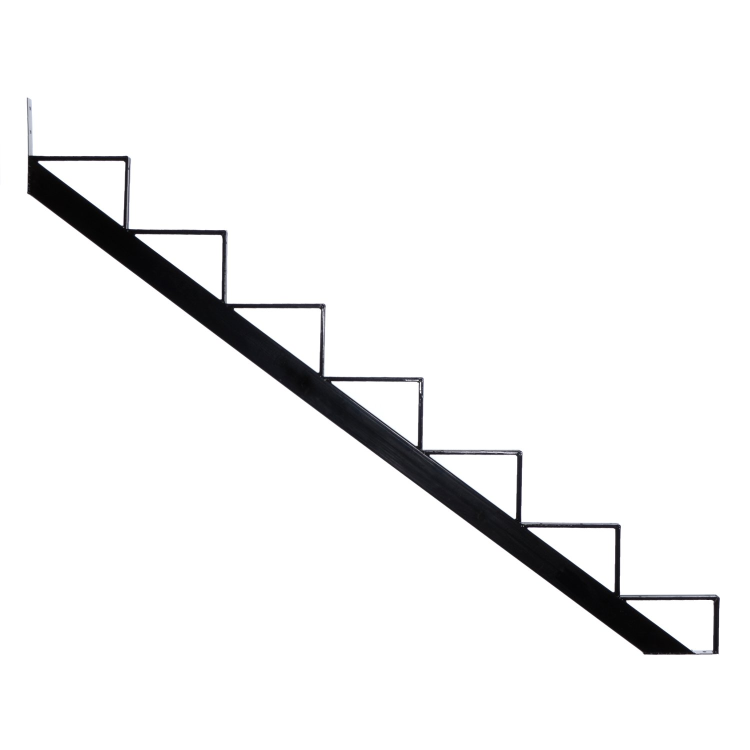 Get Quotations · Pylex 13907 7 Steps Steel Stair Stringers, Black