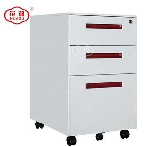 Modern Creative design Stainless Steel furniture manufacturer colorful handel moving filing cabinet