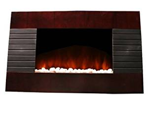 New Diva Tranquility 1500 Watts Wood Finish Wall Mount Electric Fireplace Space Heater with Remote Control