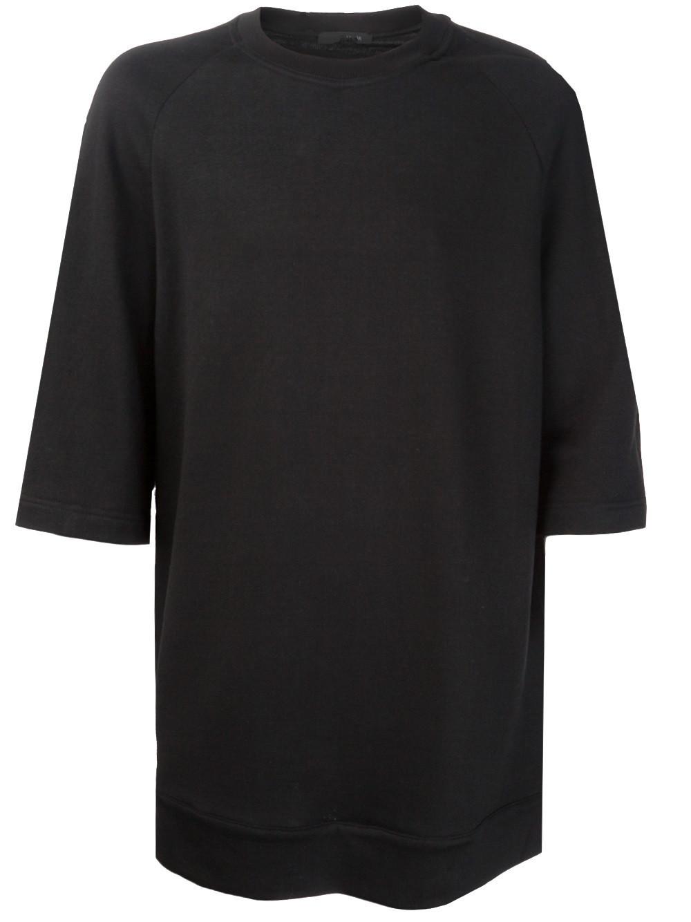 Black t shirt blank - Men S Black Blank Elongated T Shirt Mens Tall Tee
