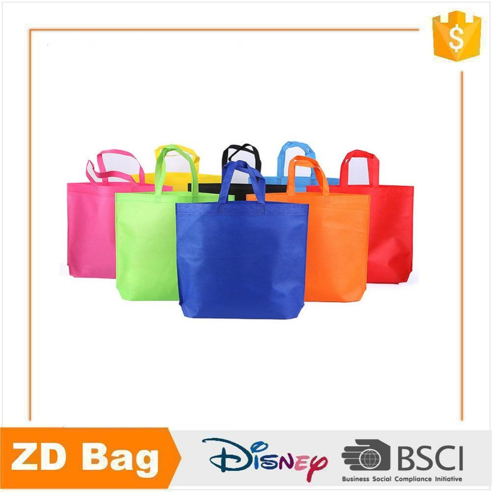 BSCI factory sale reusable custom logo colorful tnt pp nonwoven shopping bag