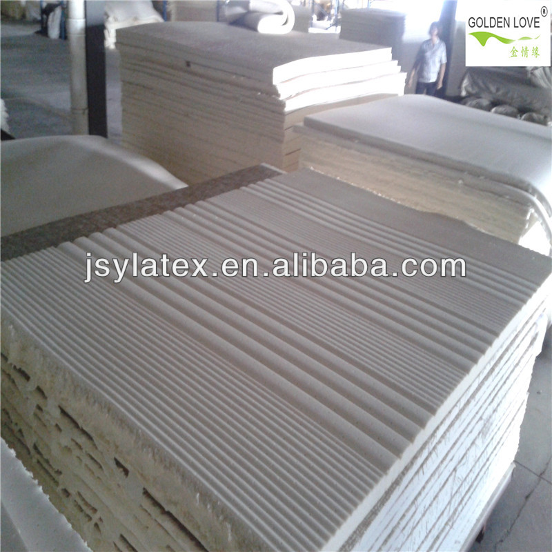 7zone wave shape latex foam mattress