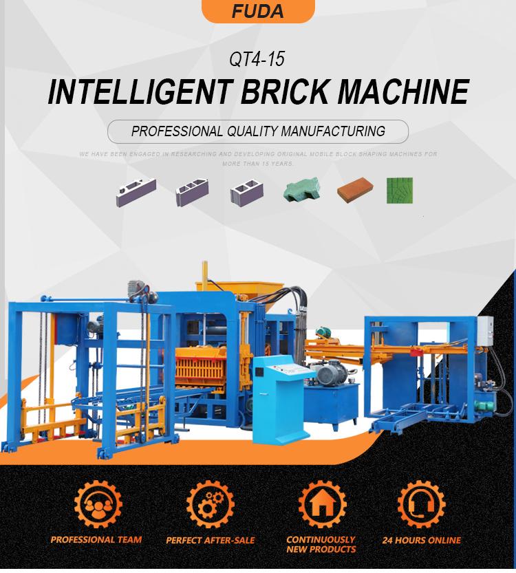 Fly ash brick machine linyi QT4-15 cement concrete hollow block making machine price