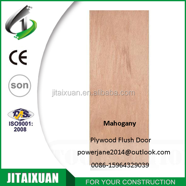 Mahogany veneer Plywood Hollow Core Flush Door