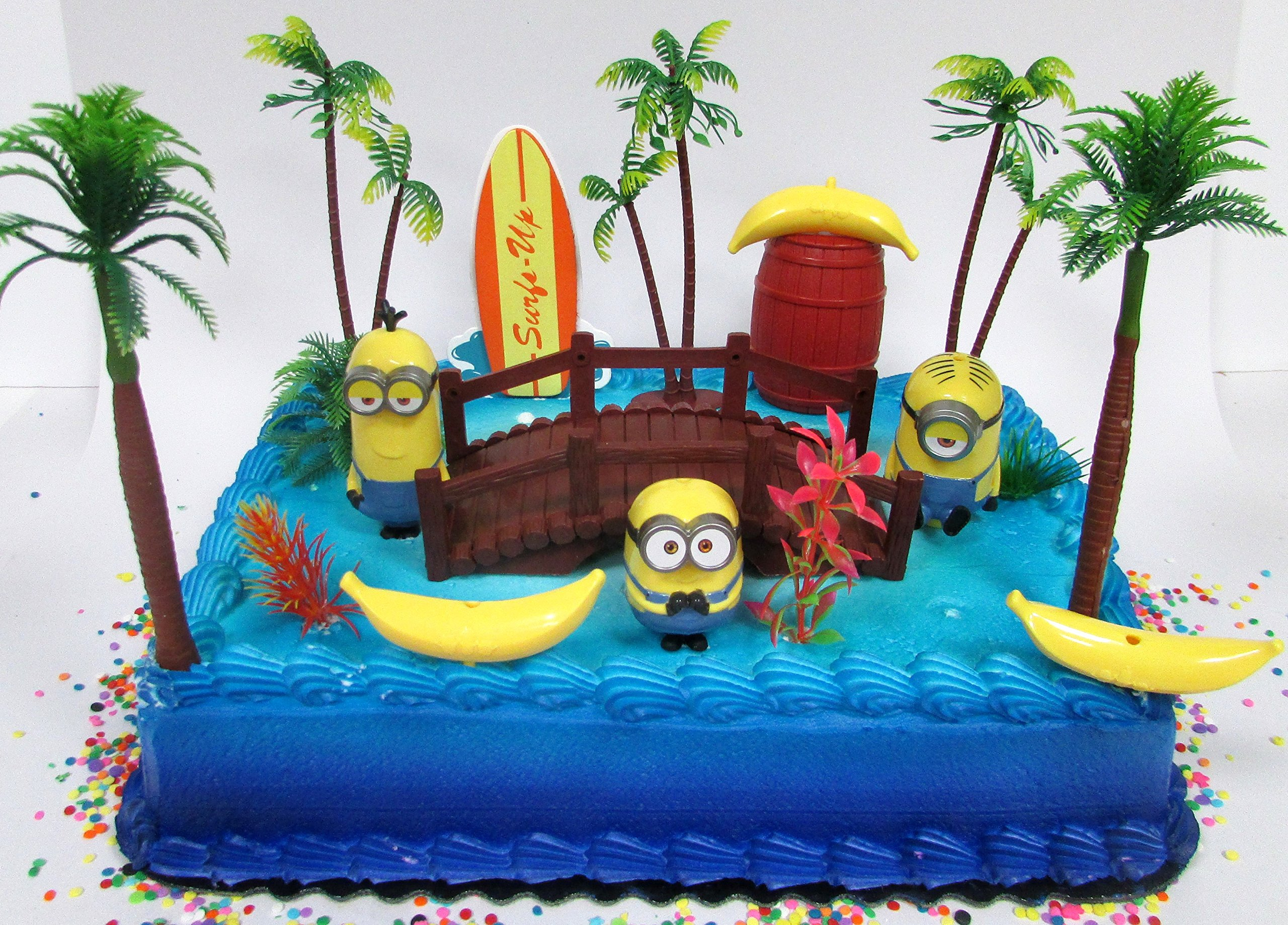 Buy Despicable Me Minions Themed Birthday Cake Topper Set Featuring