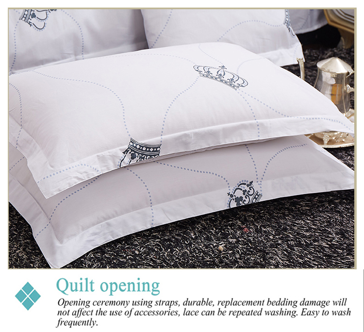 4Pcs Bedding Sets Luxury Custom Printed Cotton Queen King Size Hotel Bed Quilt Duvet Cover