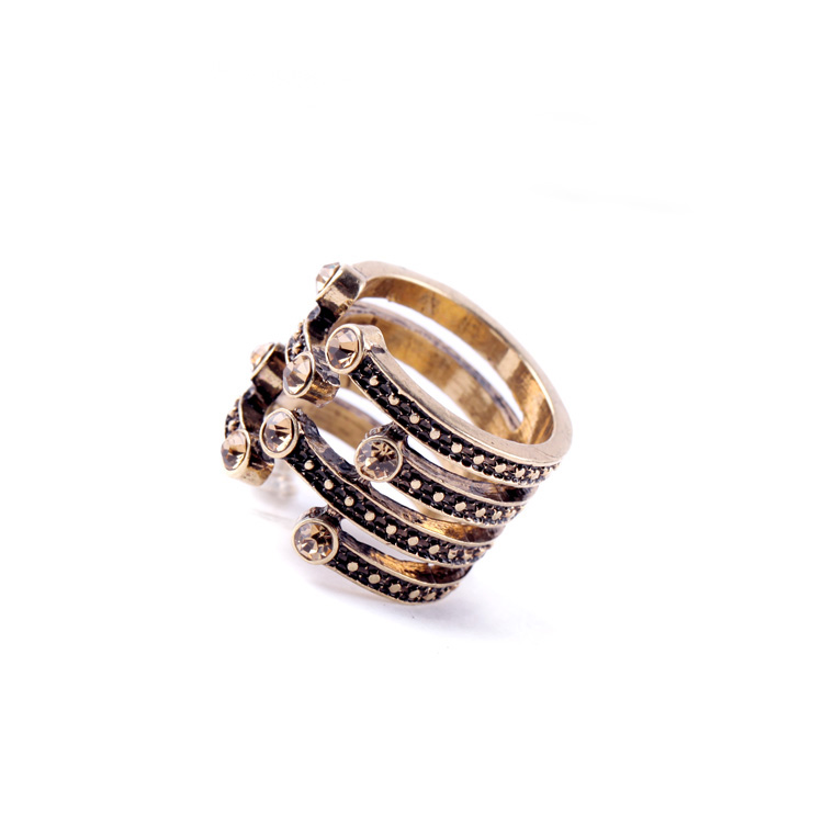 Wholesale Cheap Costume Jewelry Rings Simple Fashion Fake Gold Ring