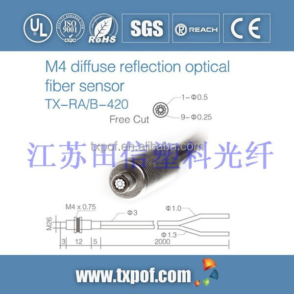 M4 Premium quality coaxial reflection import fiber sensor