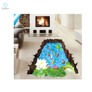Custom wall sticker Vinyl material for home decoration 5d home decor pvc wall sticker