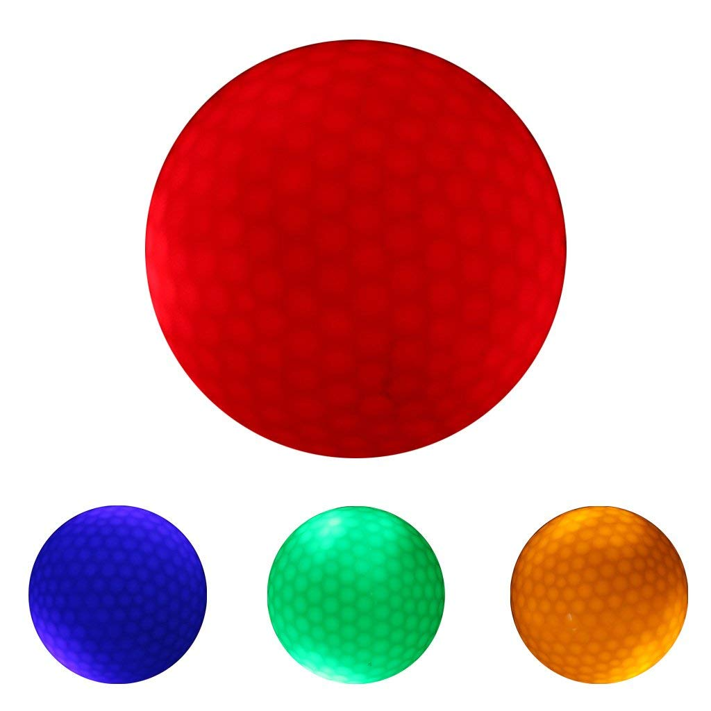 MagiDeal 4 Pieces Glow In Dark LED Light Up Golf Ball Official Size Tournament Ball