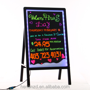 New electronic innovative product sidewalk signs led writing menu message board