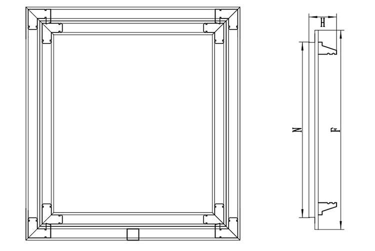 how to build an access door in drywall