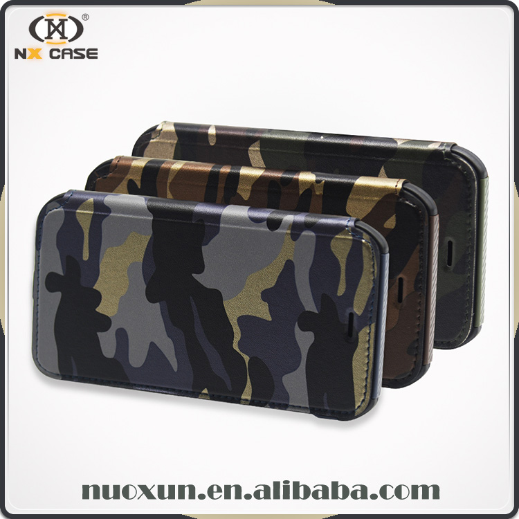 2017 Camouflage design wallet for iphone 7 cover case, cover for iphone 7